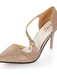Damen-High Heels-Lässig-PU-Stöckelabsatz-Absätze-Rosa / Silber / Gold