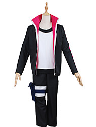 Inspired by Naruto Naruto Uzumaki Anime Cosplay Costumes Cosplay Suits Solid BlackCoat / Top / Pants / Headpiece / Legguards / More