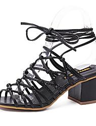 Women's Shoes PU Summer Heels / Open Toe Sandals Outdoor / Office & Career / Dress Chunky Heel Others