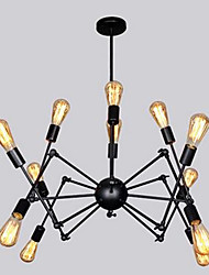American Country Vintage Industrial Wind Loft Creative Iron Lamp Black Spider Chandelier Bar Restaurant