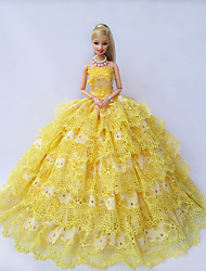 Party & Evening Dresses For Barbie Doll Golden / Yellow Dresses