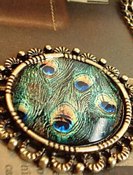 Women's Pendant Necklaces Alloy Peacock Fashion Adjustable Green Jewelry Halloween Daily Casual 1pc