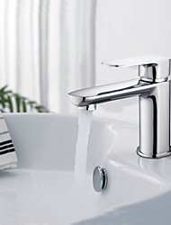 Widespread Single Handle One Hole in Chrome Bathroom Sink Faucet