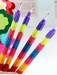 творческой радуги многофункциональный 8 секций строительных блоков карандаш
