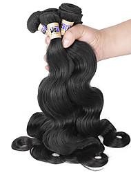 4 unidades / lote 8-30inch brasileira onda 6a corpo cabelo virgem não transformados brasileiro tece cabelo humano