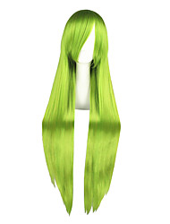 Cosplay Wigs LuckyStar Grell Sutcliff Green Long Anime Cosplay Wigs 100 CM Heat Resistant Fiber Male / Female