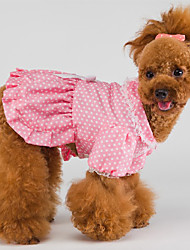 Fashion Dot Print bowknot eingerichtete Princess Dress for Pets Dogs (verschiedene Größen)