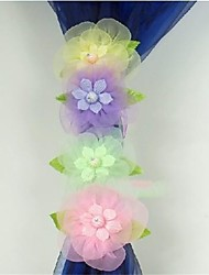 One Piece Yarn Curtain Buckle Straps Flower Curtain Clip Tied Flower Variety of Colors