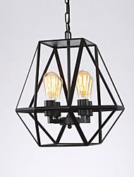 American Country Vintage Loft Pendant Lights 4-Lights Metal Living Room Cafe Restaurant Kitchen Light Fixture