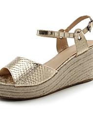 Women's Shoes  Summer Heels /Platform / Slingback Sandals Party & Evening / Dress / Casual Wedge Heel Silver / Gold