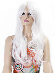 Synthetic Wigs Long Curly Wave Synthetic Hair White Color Wigs For Women Cosplay Christmas Wig