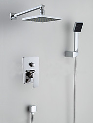 Shower Faucet Contemporary Waterfall / Rain Shower / Handshower Included / Pullout Spray Brass Chrome