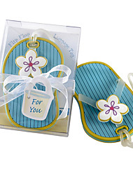 Beter Gifts®Recipient Gifts - 1Piece/Set, Nautical Theme Flip Flop Travel Tag, Luggage Tag Wedding Favor