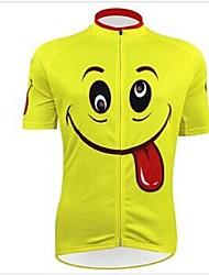KEIYUEM® חולצת ג'רסי לרכיבה יוניסקס שרוול קצר אופנייםעמיד למים / נושם / ייבוש מהיר / עיצוב אנטומי / מוגן מגשם / רוכסן עמיד למים / לביש /