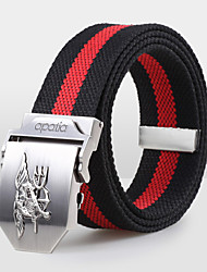 Men Canvas Waist Belt,Vintage / Party / Work / Casual Alloy D6B5P502