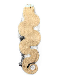 tape hair extensions wavy body wave skin weft hair double sided adhesive cabelo hair 50g 20piece/lot 20inch cheap