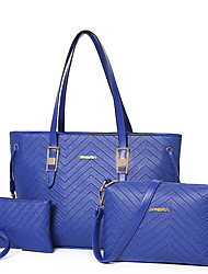 Women PU Formal / Casual / Office & Career / Shopping Tote / Bag Sets Blue / Gold / Red / Black