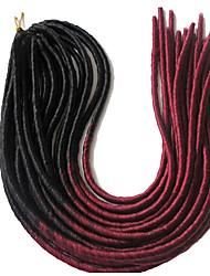 La Havane dreadlocks Extensions de cheveux 20 inch Kanekalon 20 roots Brin 100g gramme Braids Hair