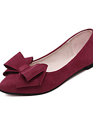 Women's Shoes Fleece Spring / Fall Comfort / Pointed Toe Flats Office & Career / Casual Flat Heel Bowknot
