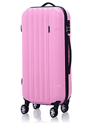 Unisex-Outdoor-PVC-Gepäck-pink / gelb 24inch