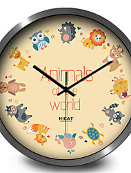 Creative Cartoon Animal World Living Room Study Home Quartz Wall Clock