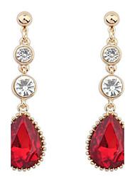 Fashion Water Ruby Rhinestones Rarrings Accessories