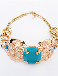Stylish Atmosphere Oval Necklace Luxury Jewelry