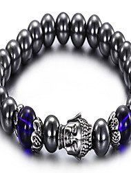Kalen®2016 Unique Design Men's Stone Beaded And Stainless Steel Buddha Bracelets