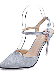 Women's Shoes Leatherette Summer Heels Sandals Office & Career / Party & Evening / Casual Stiletto Heel Crystal