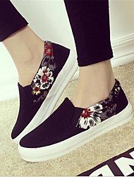 Women's Flats Summer Comfort / Closed Toe Canvas Casual Flat Heel Others Black / Blue / Red