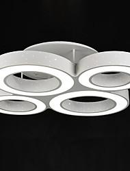 84W Montagem do Fluxo ,  Contemprâneo Pintura Característica for LED MetalSala de Estar / Quarto / Sala de Jantar / Quarto de
