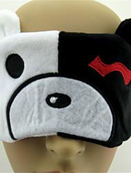 Mask Inspired by Dangan Ronpa Monokuma Anime Cosplay Accessories Mask White Corduroy Male / Female