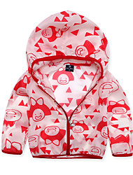 Casual/Dagelijks-Print-Polyester-Zomer-Boy's-Kostuum & Blazer-Blauw / Rood