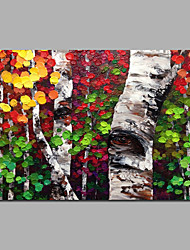 Modern Abstract Tree Painting Knife Style Oil Art Wall Decor 2 Sizes
