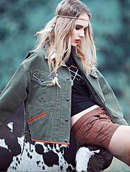 Aporia.As® Women's Round Neck Long Sleeve Shirt & Blouse Green / Brown-MZ06047