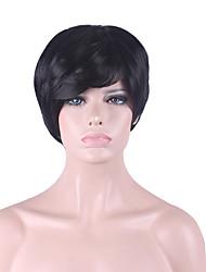 best-seller de l'Europe et les États-Unis cos perruque hommes courte perruque noire 3 pouces