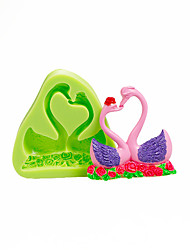 Lovers Swan Silicone Mold for Chocolate Polymer Clay Candy Making Sugarcraft Tools Cake Decorations Mould