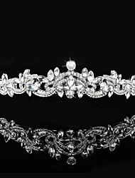 Mujer Diamantes Sintéticos / Cristal / Latón Celada-Boda / Ocasión especial Tiaras 1 Pieza Claro Redondo / Irregular 19cm