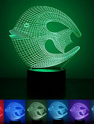 Coral Fish Colorful USB 3D Led Night Light