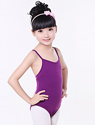 Ballet Leotards Children's Training Cotton Criss-Cross 1 Piece Sleeveless Natural Leotard Kid's Dance Costumes