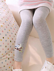 Girl's Casual/Daily Animal Print Pants,Cotton Summer / Spring / Fall Pink / White / Gray