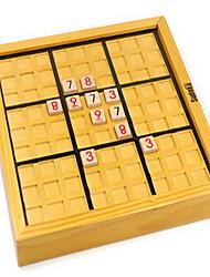 Пазлы Строительные блоки / Логические игрушки Строительные блоки DIY игрушки Квадратная 90 Дерево Белый Логические игрушки