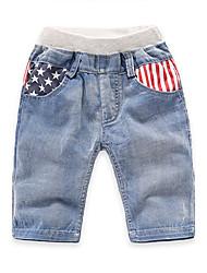 Jungen Shorts-Lässig/Alltäglich Gestreift Baumwolle Sommer Blau