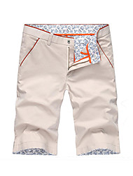 Men's Solid Casual Shorts,Cotton Multi-color