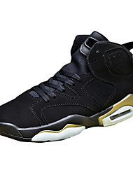 Sapatos Masculinos-Rasos-Branco / Preto e Dourado / Preto e Vermelho / Preto e Branco-Tule-Ar-Livre / Casual