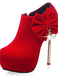 Homme-Habillé Décontracté Soirée & Evénement-Noir Rouge Blanc-Talon Aiguille Plateforme-A Plateau-Chaussures à Talons Bottes-Similicuir