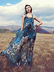 Aporia.As® Women's Strap Sleeveless Tea-length Dress-MZ01213