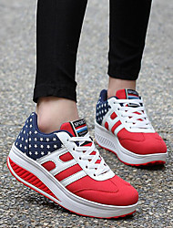 Women's Sneakers Spring Summer Fall Leatherette Athletic Platform Creepers Others Blue Red