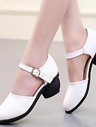 Zapatos de baile(Negro / Marrón / Rojo / Blanco) -Moderno-No Personalizables-Tacón Bajo