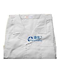 белое пальто толстые стандартные врачи выступающей мужчин и женщин с длинными рукавами с короткими рукавами